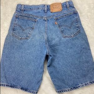 90's Vintage Orange Tab Levi's 550 Jean Shorts